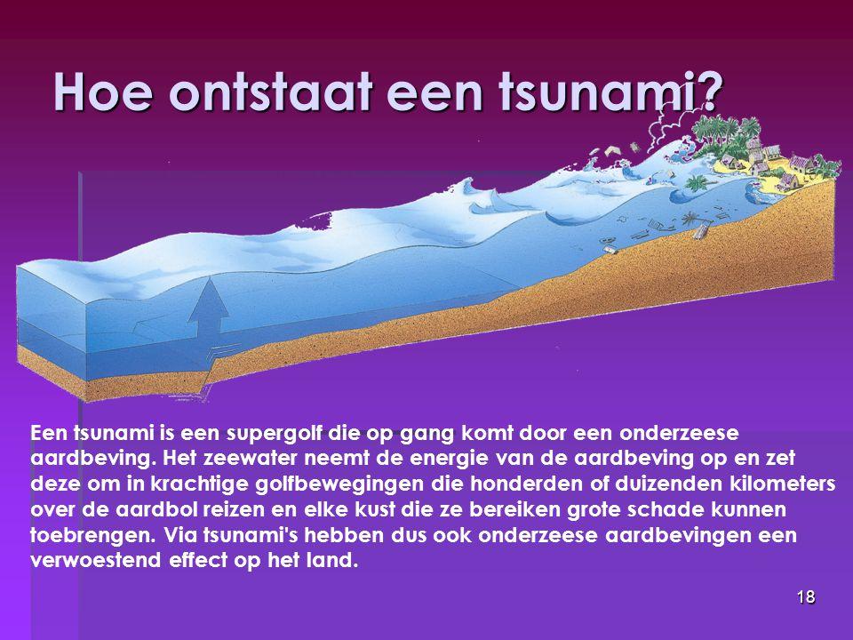 Hoe ontstaat een tsunami