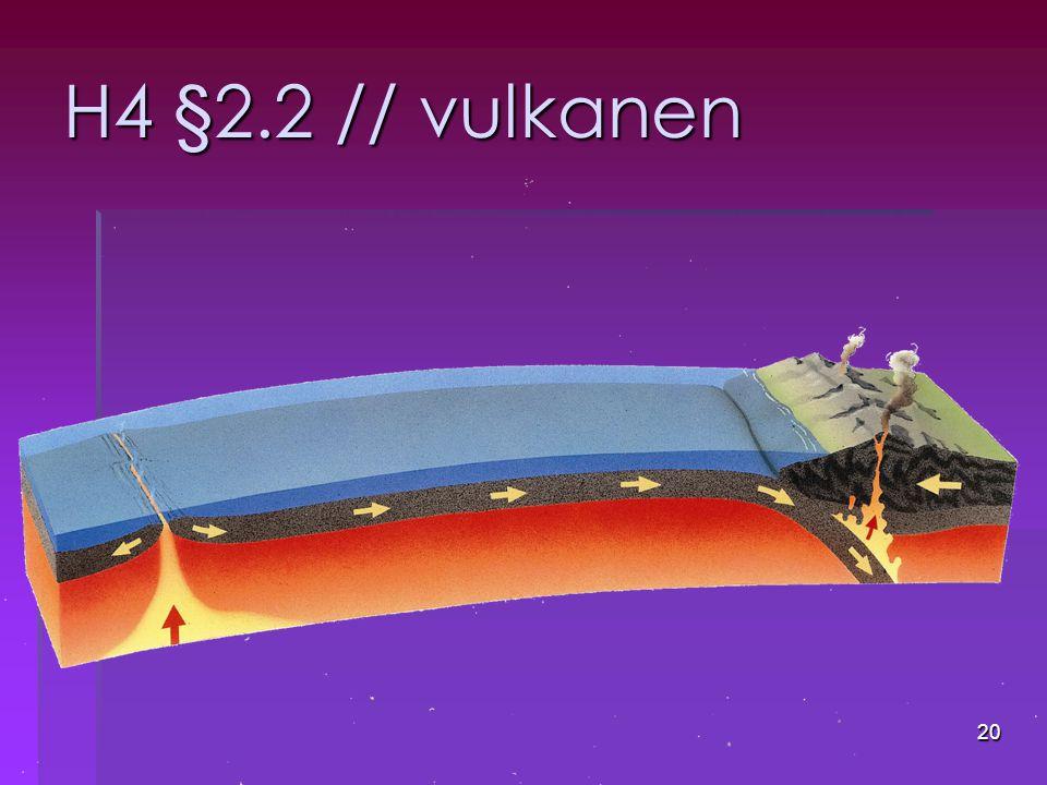 H4 §2.2 // vulkanen
