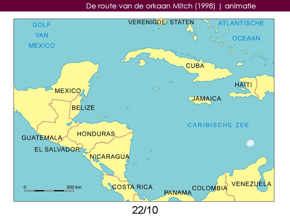 De route van de orkaan Mitch (1998) | animatie
