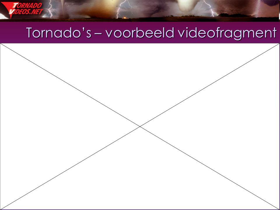 Tornado's – voorbeeld videofragment