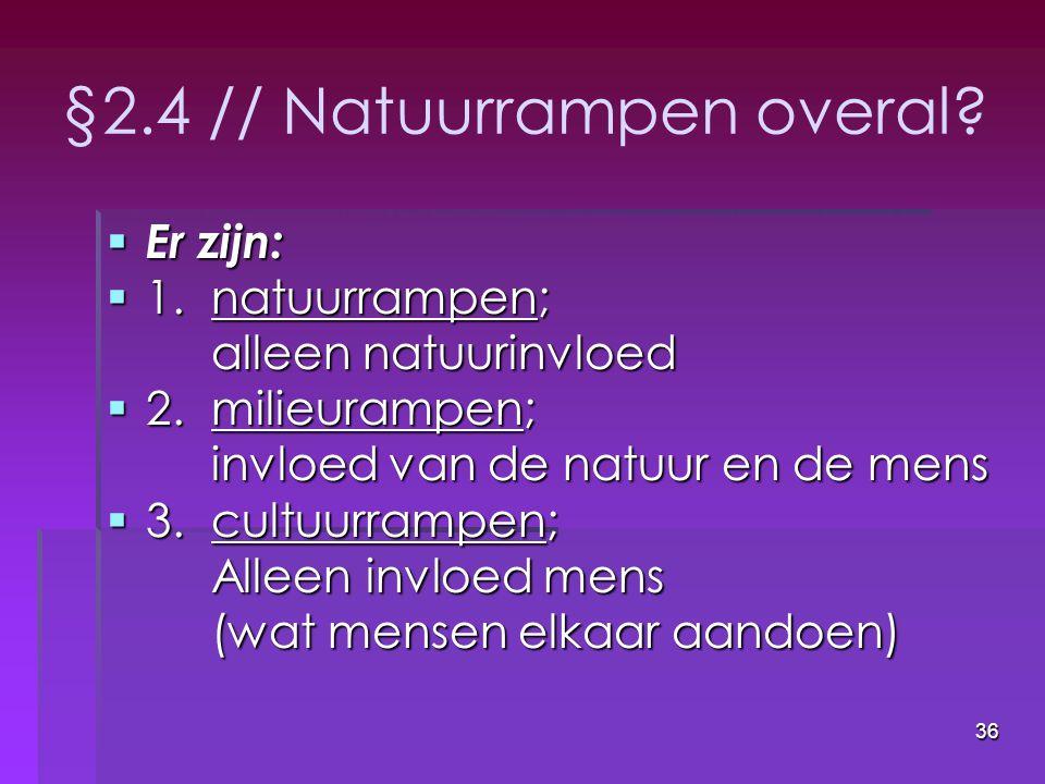 §2.4 // Natuurrampen overal