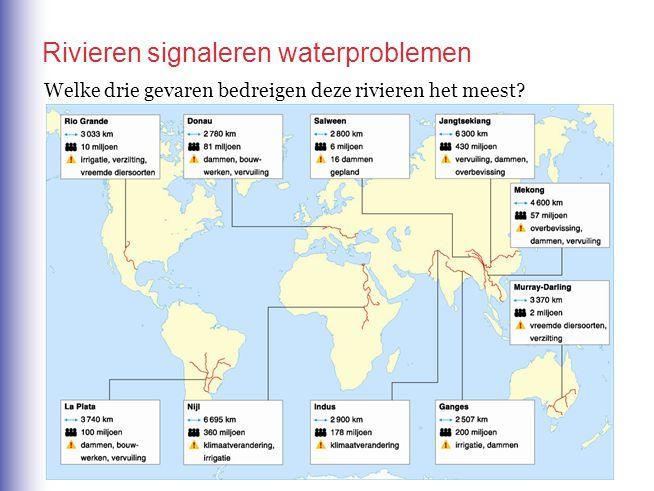 Rivieren signaleren waterproblemen