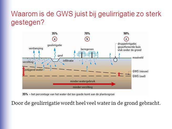 Waarom is de GWS juist bij geulirrigatie zo sterk gestegen