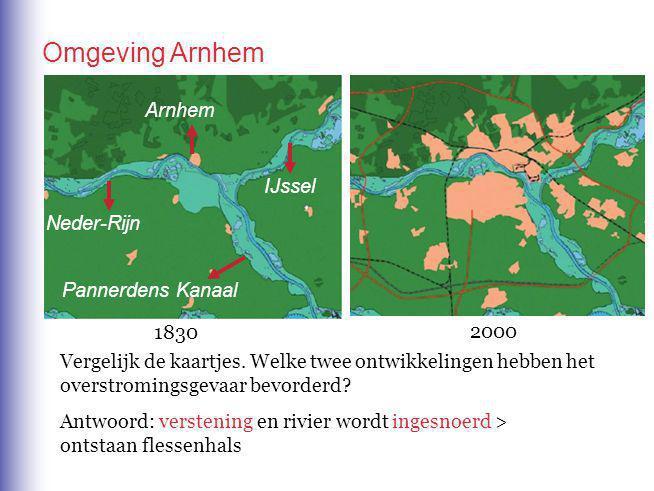Omgeving Arnhem Arnhem IJssel Neder-Rijn Pannerdens Kanaal 1830 2000