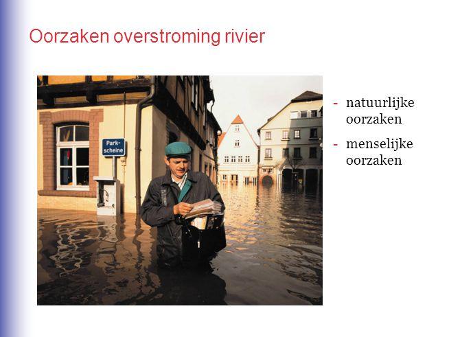 Oorzaken overstroming rivier