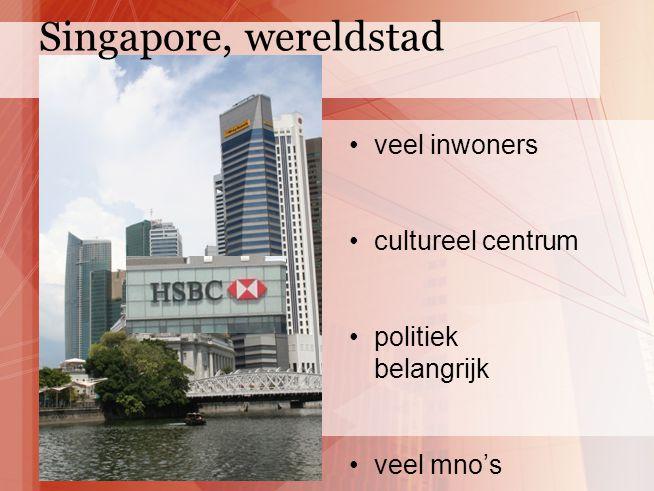 Singapore, wereldstad veel inwoners cultureel centrum