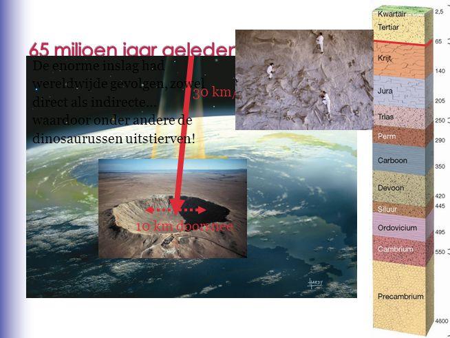 65 miljoen jaar geleden De enorme inslag had