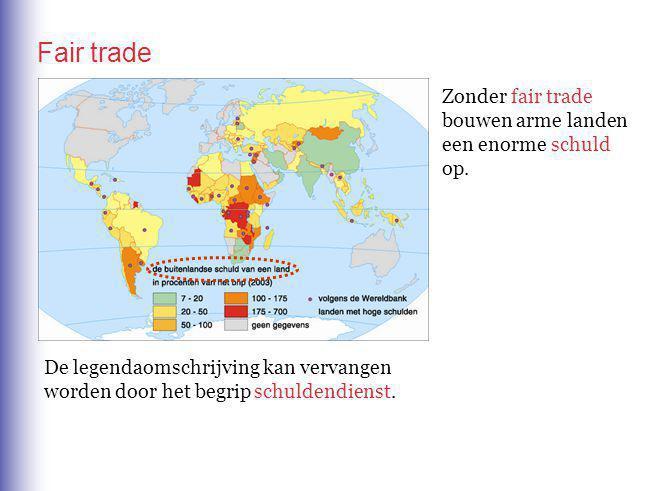 Fair trade Zonder fair trade bouwen arme landen een enorme op. schuld