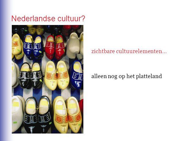 Nederlandse cultuur zichtbare cultuurelementen…