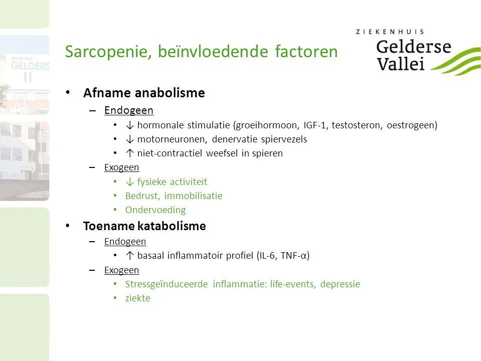 Sarcopenie, beïnvloedende factoren