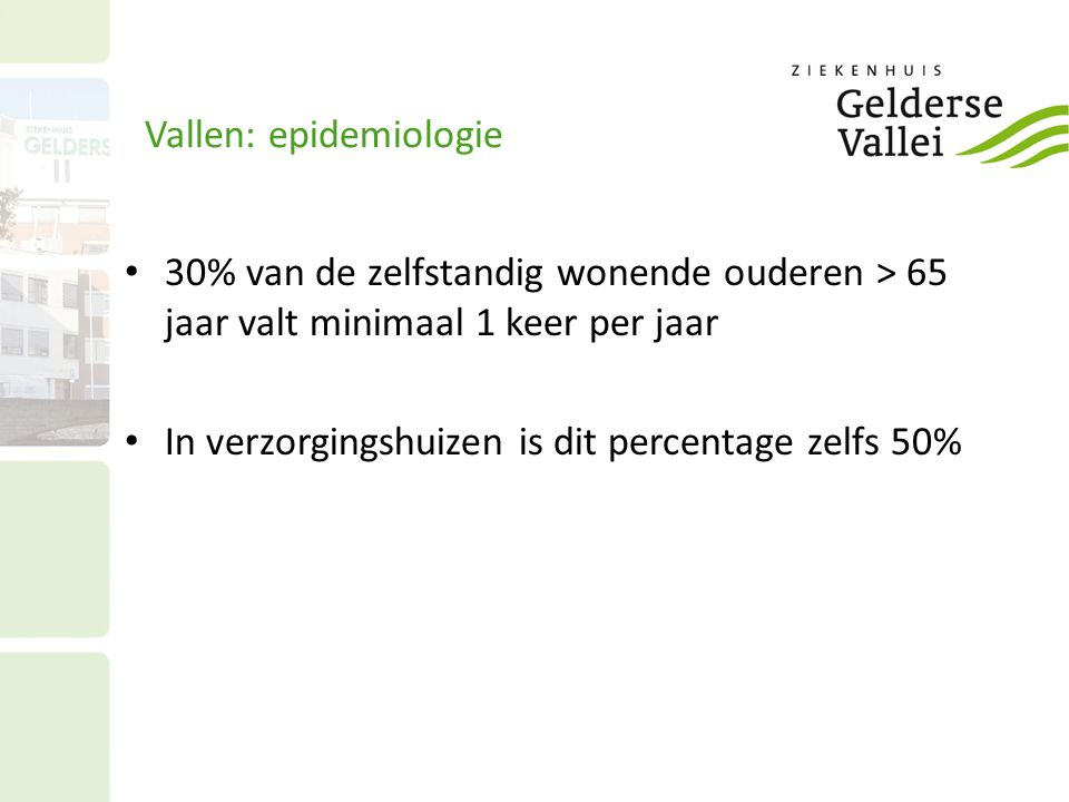 Vallen: epidemiologie