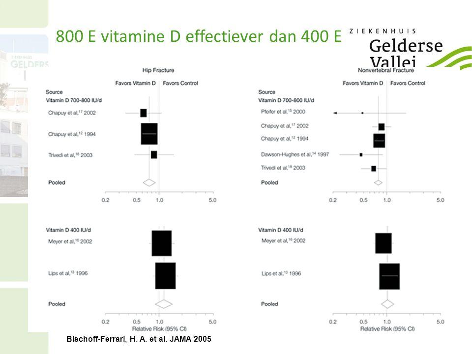 800 E vitamine D effectiever dan 400 E