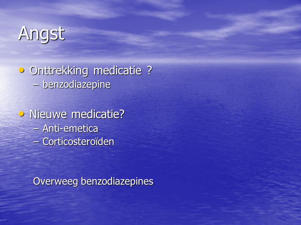 Angst Onttrekking medicatie Nieuwe medicatie benzodiazepine