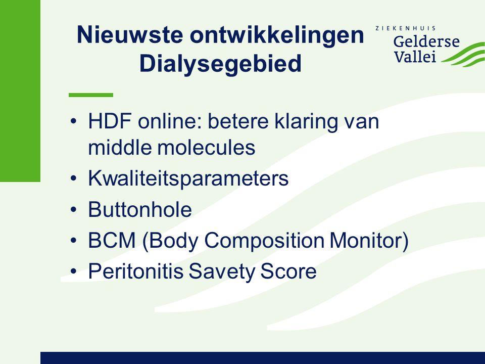 Nieuwste ontwikkelingen Dialysegebied
