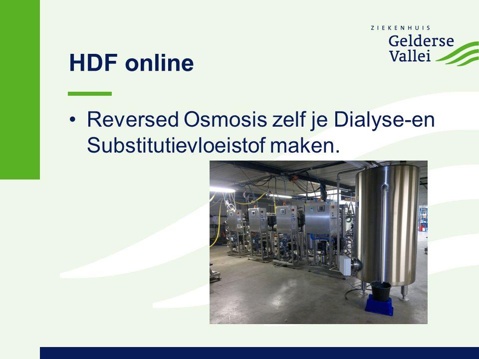 HDF online Reversed Osmosis zelf je Dialyse-en Substitutievloeistof maken.