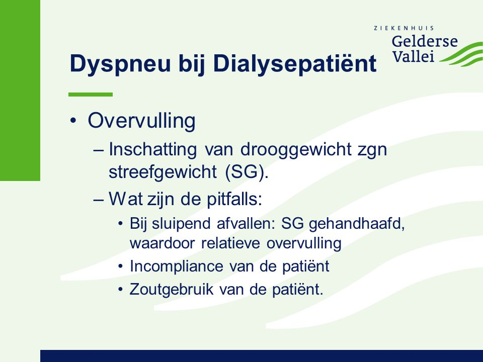 Dyspneu bij Dialysepatiënt