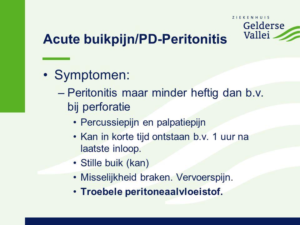 Acute buikpijn/PD-Peritonitis
