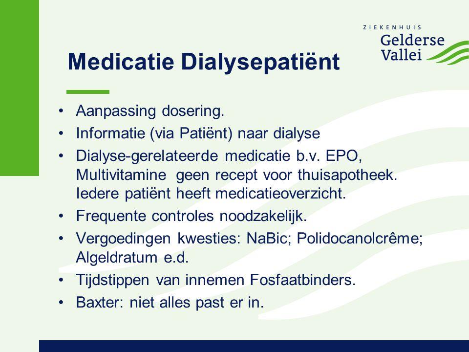 Medicatie Dialysepatiënt