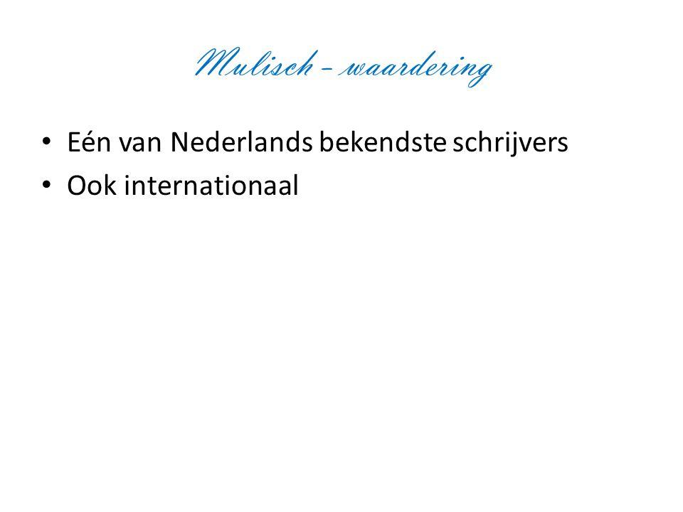 Mulisch - waardering Eén van Nederlands bekendste schrijvers