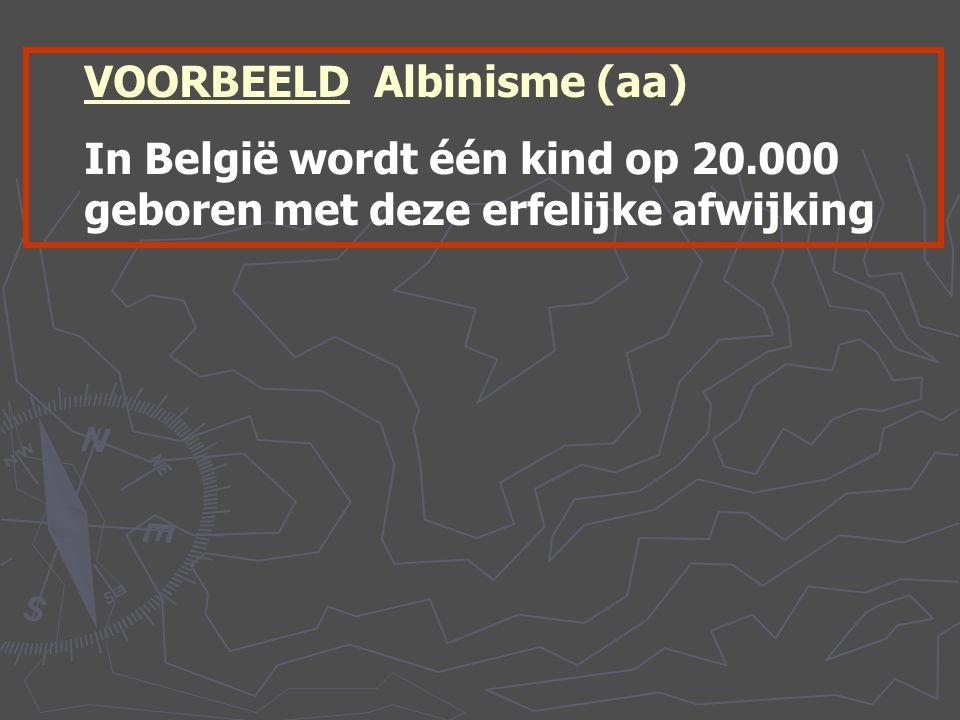 VOORBEELD Albinisme (aa)