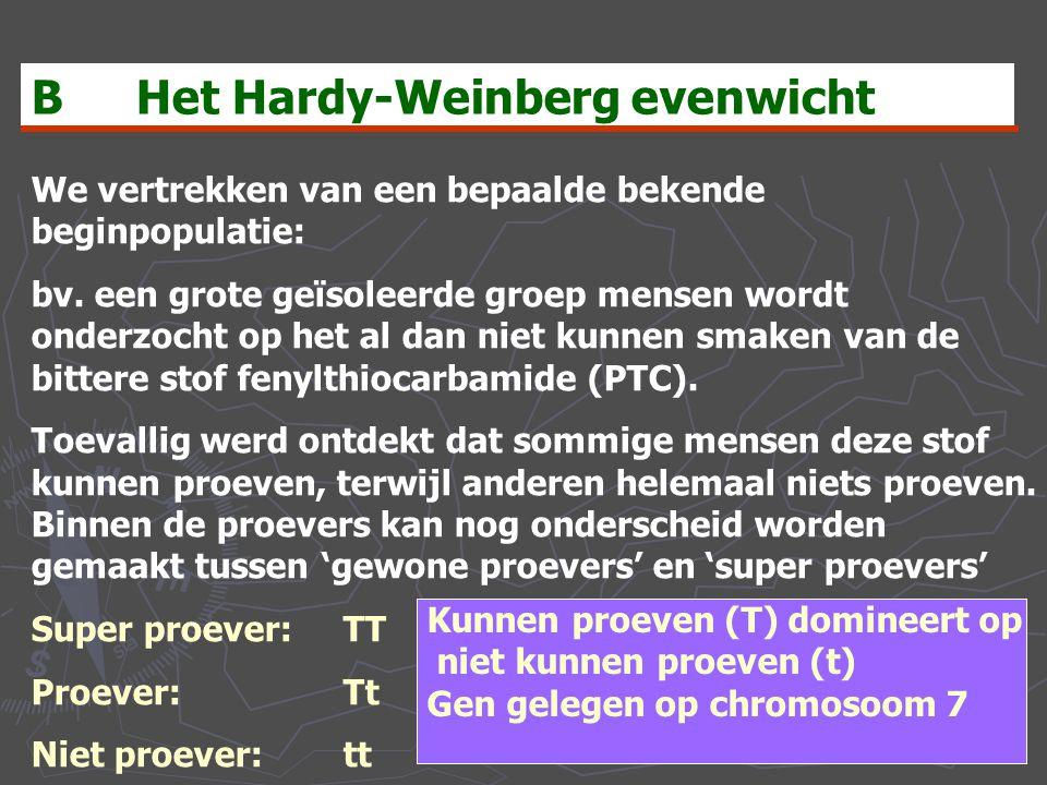 B Het Hardy-Weinberg evenwicht