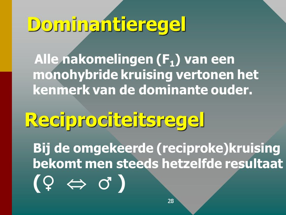 Dominantieregel Reciprociteitsregel