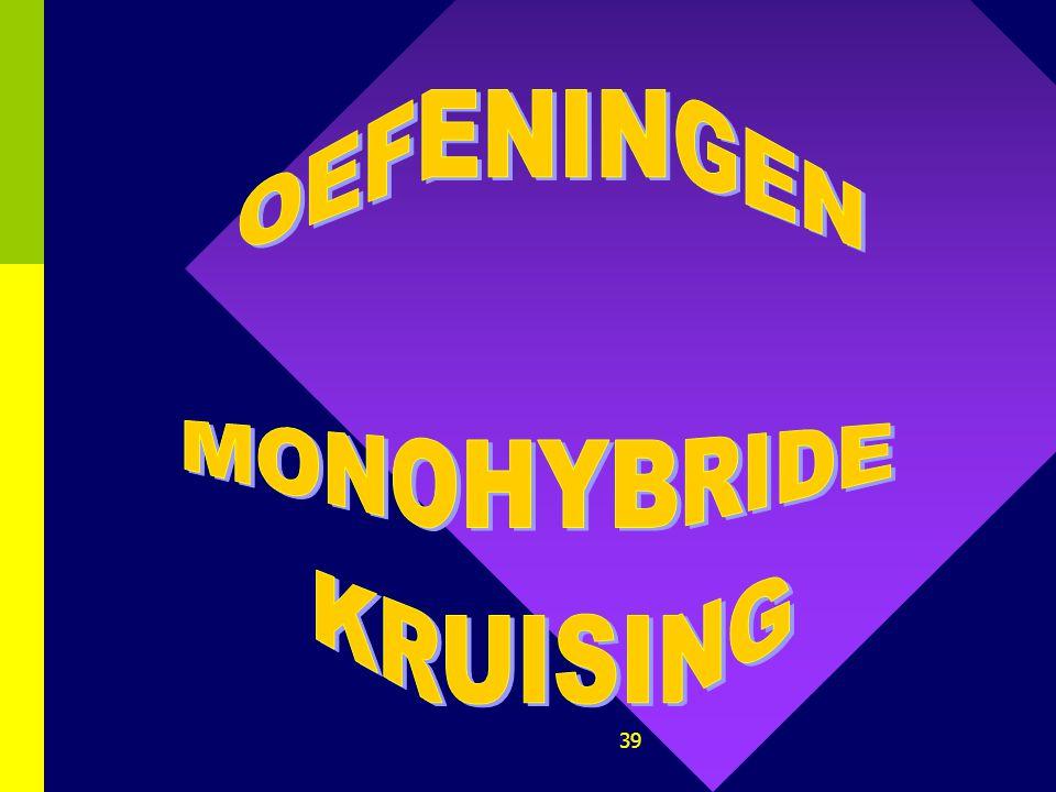 OEFENINGEN MONOHYBRIDE KRUISING