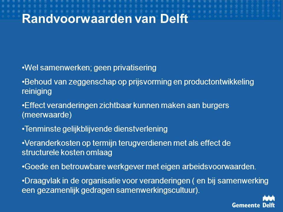 Randvoorwaarden van Delft