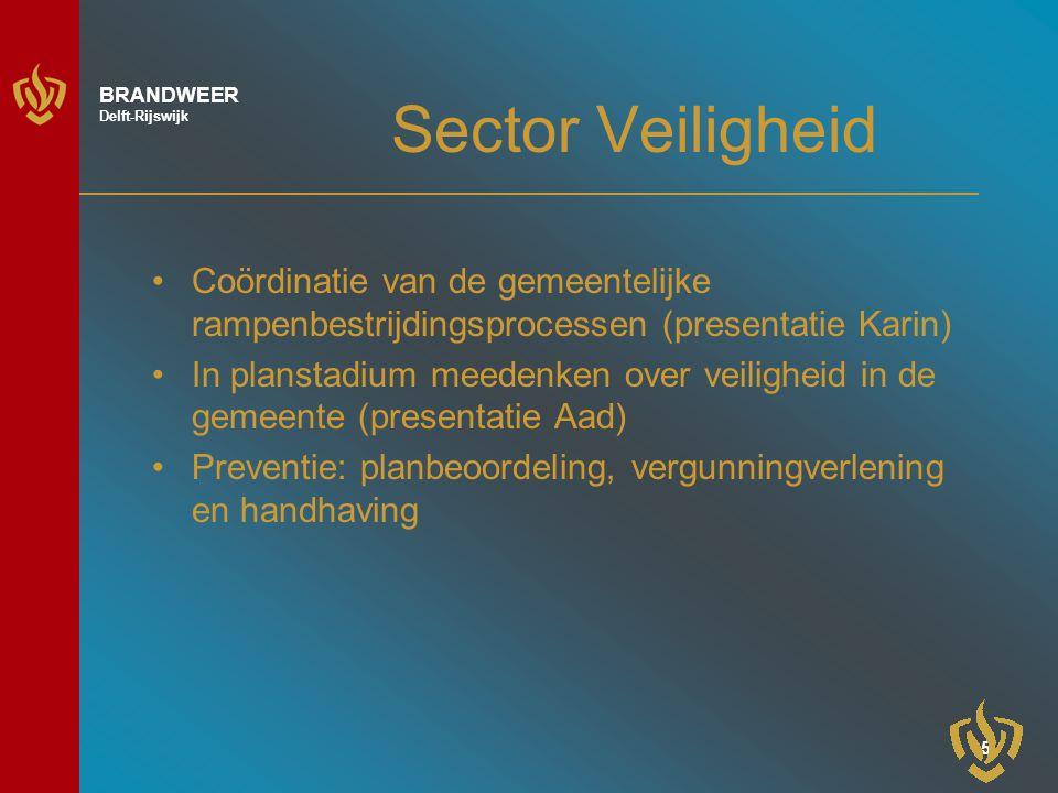 Sector Veiligheid Coördinatie van de gemeentelijke rampenbestrijdingsprocessen (presentatie Karin)