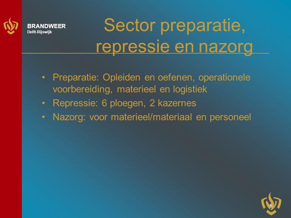 Sector preparatie, repressie en nazorg