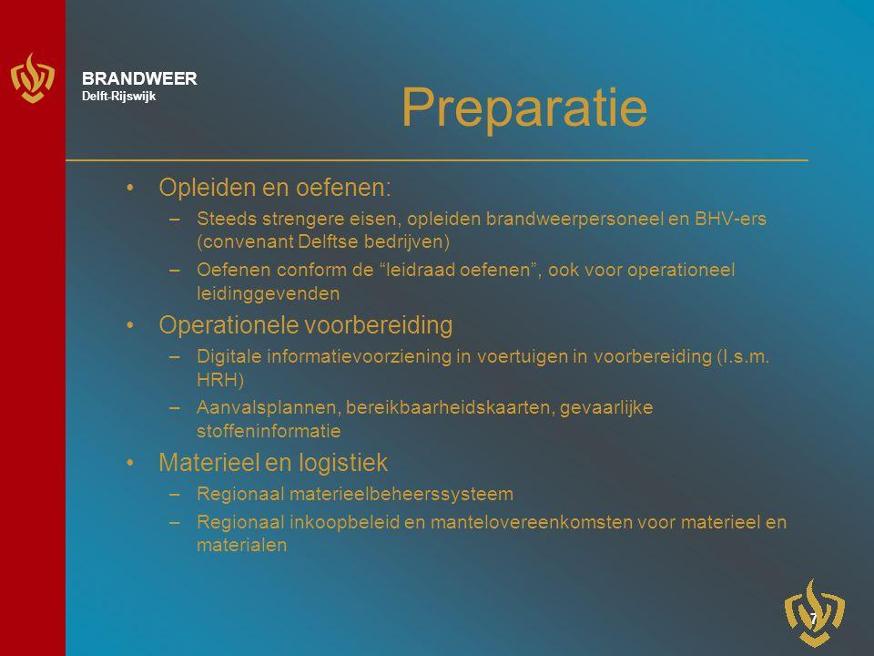 Preparatie Opleiden en oefenen: Operationele voorbereiding