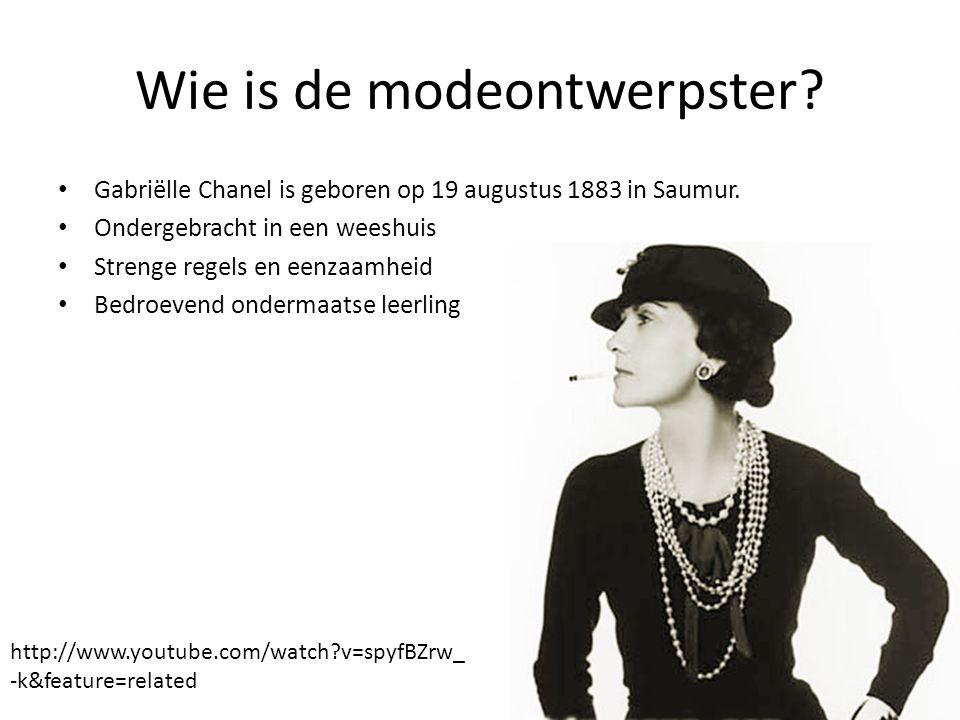 Wie is de modeontwerpster