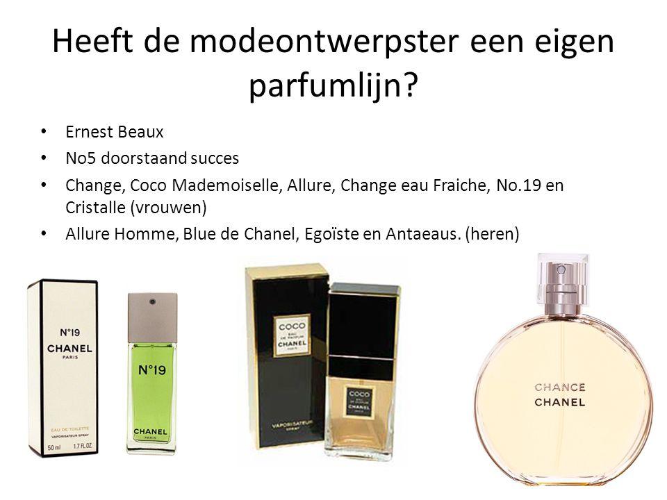 Heeft de modeontwerpster een eigen parfumlijn