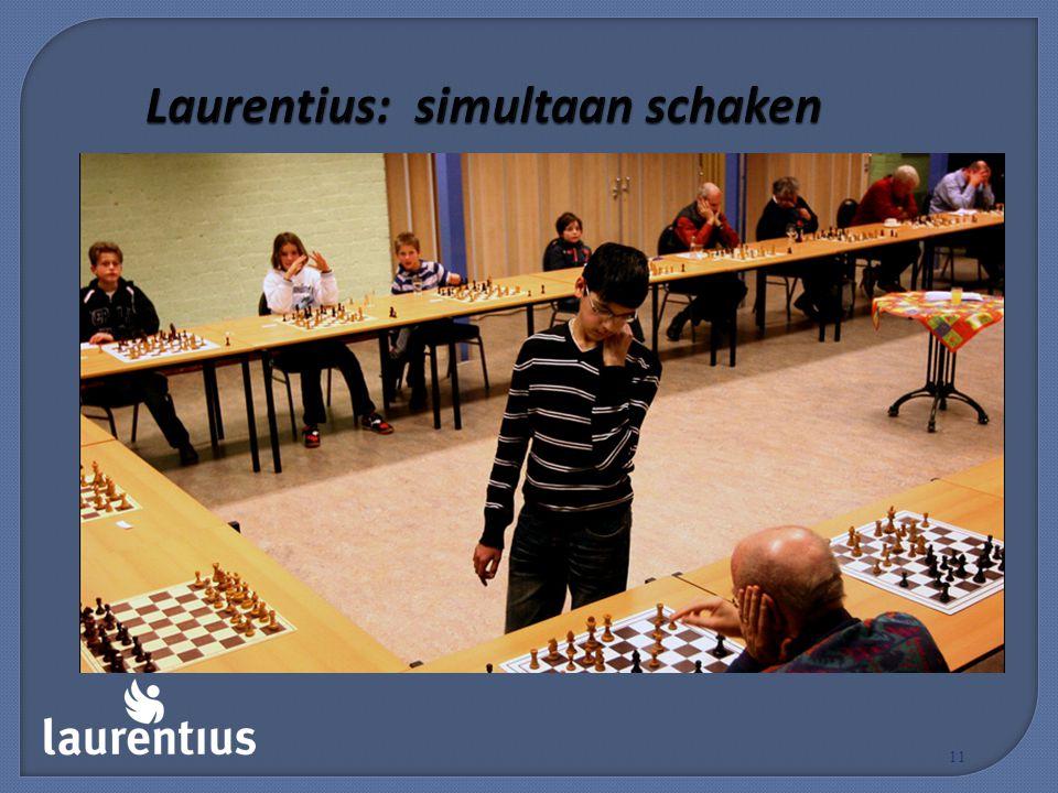Laurentius: simultaan schaken