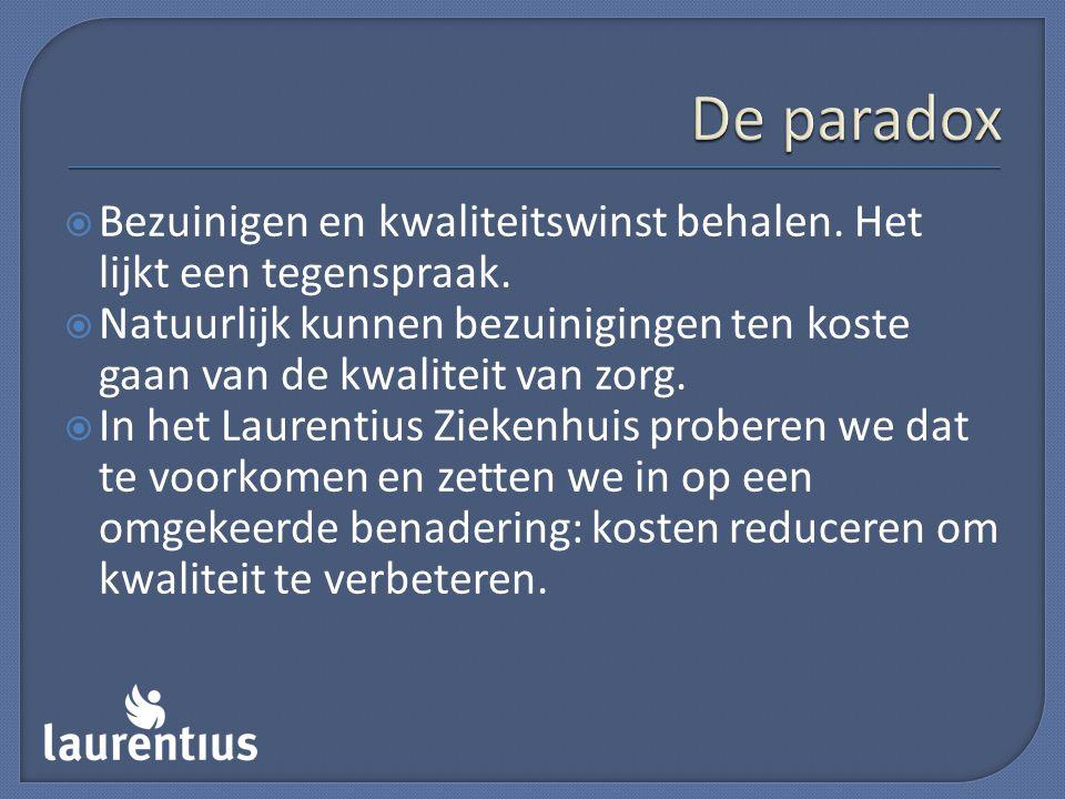 De paradox Bezuinigen en kwaliteitswinst behalen. Het lijkt een tegenspraak.