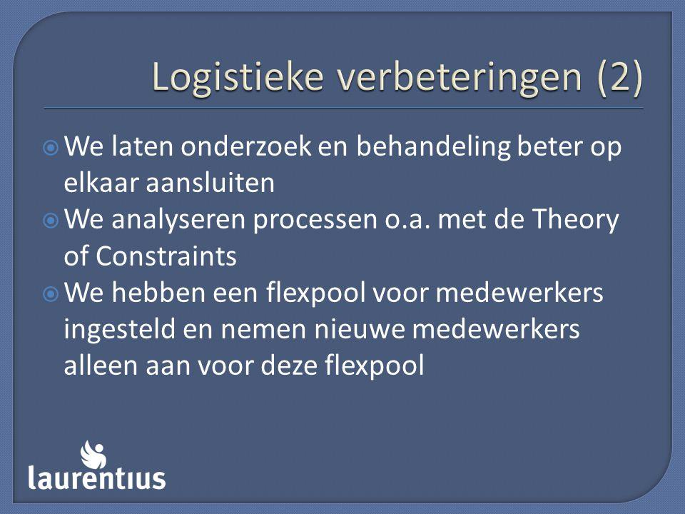 Logistieke verbeteringen (2)
