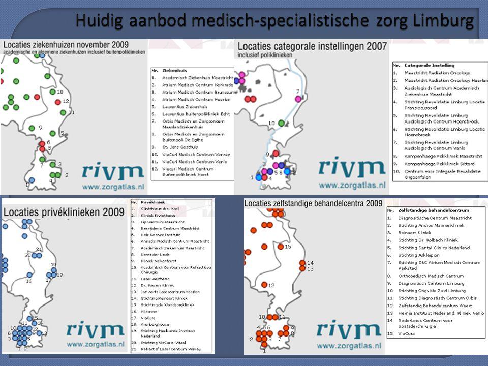 Huidig aanbod medisch-specialistische zorg Limburg