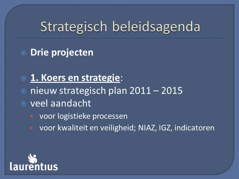 Strategisch beleidsagenda