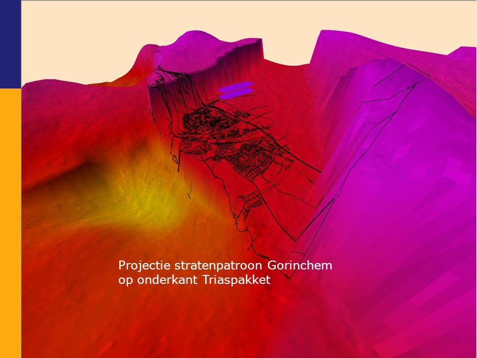 Projectie stratenpatroon Gorinchem op onderkant Triaspakket