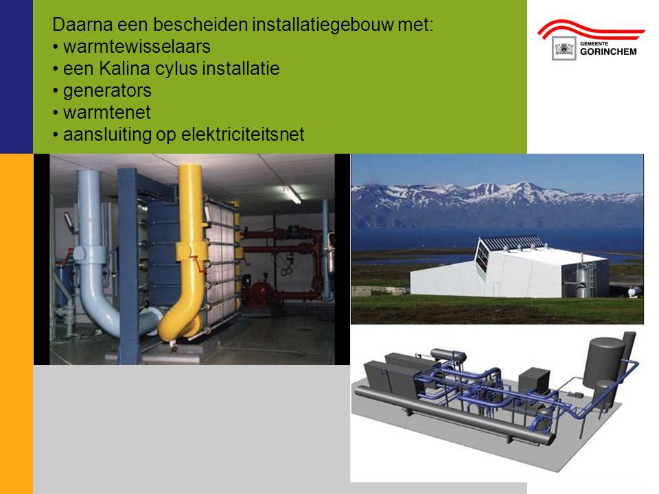 Daarna een bescheiden installatiegebouw met: warmtewisselaars
