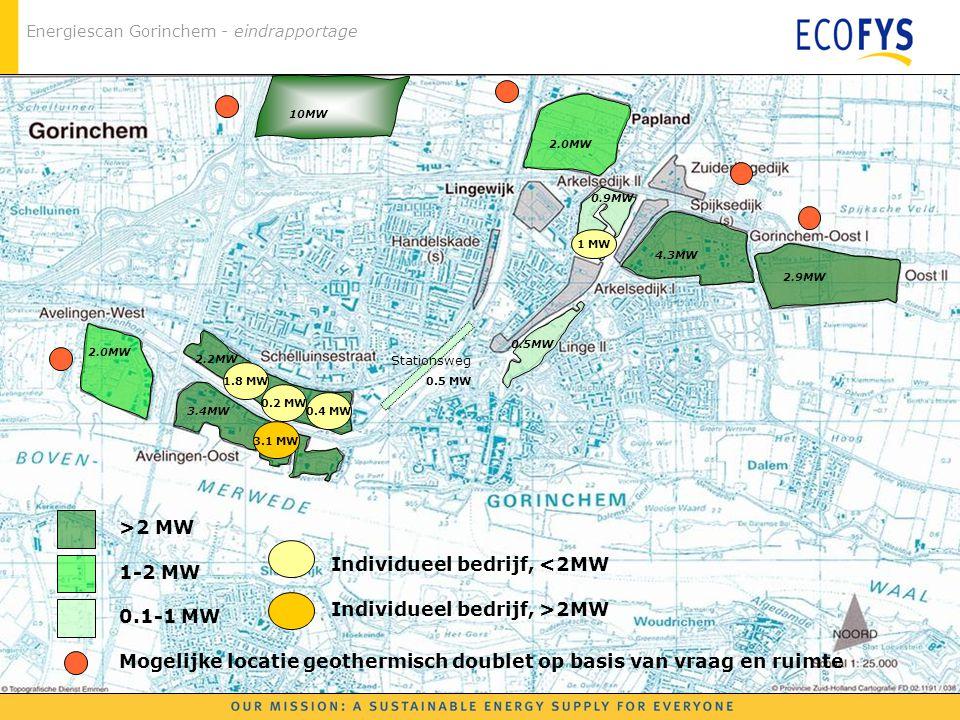 Mogelijke locatie geothermisch doublet op basis van vraag en ruimte