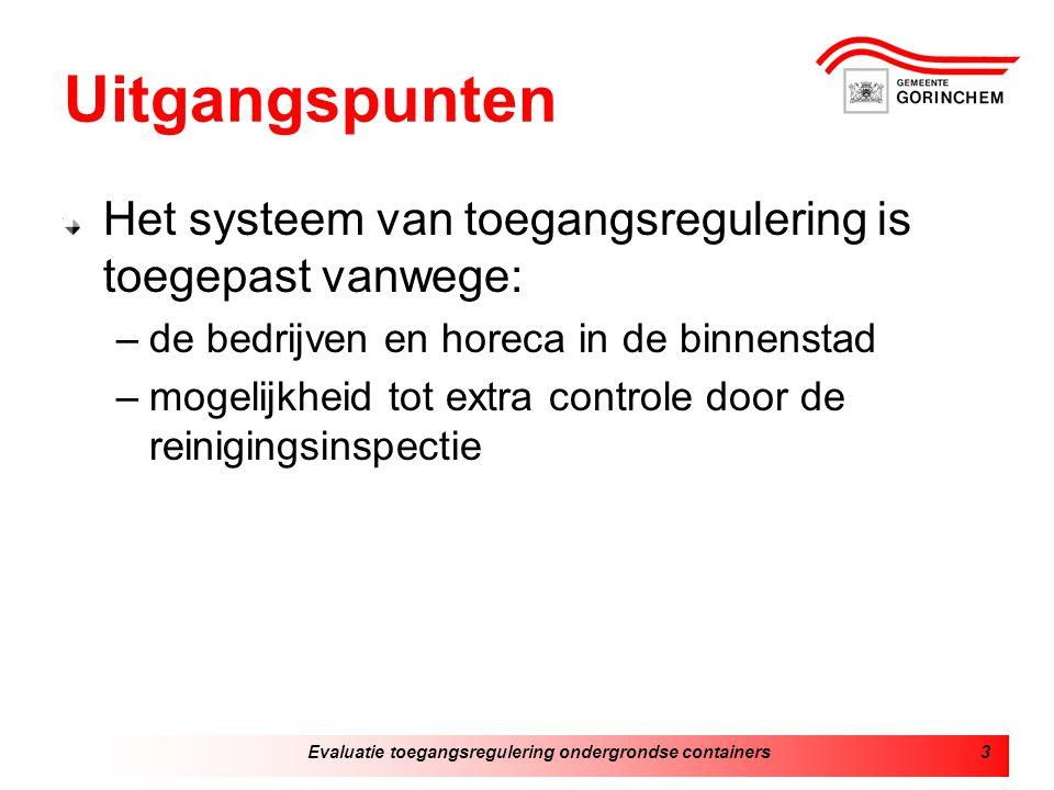 Evaluatie toegangsregulering ondergrondse containers