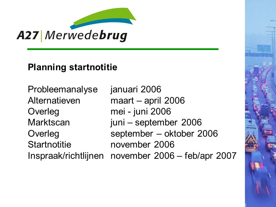 Planning startnotitie