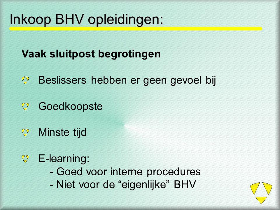 Inkoop BHV opleidingen: