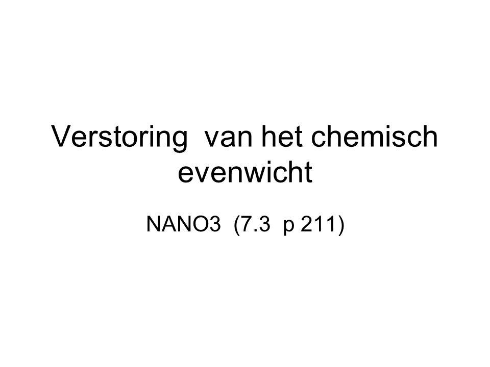 Verstoring van het chemisch evenwicht