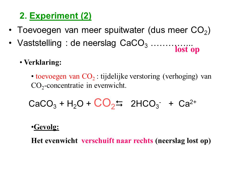 Toevoegen van meer spuitwater (dus meer CO2)