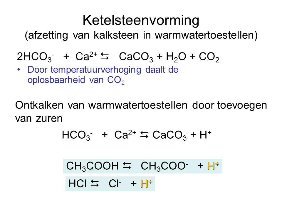 Ketelsteenvorming (afzetting van kalksteen in warmwatertoestellen)