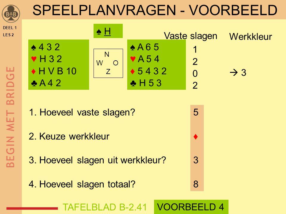 SPEELPLANVRAGEN - VOORBEELD