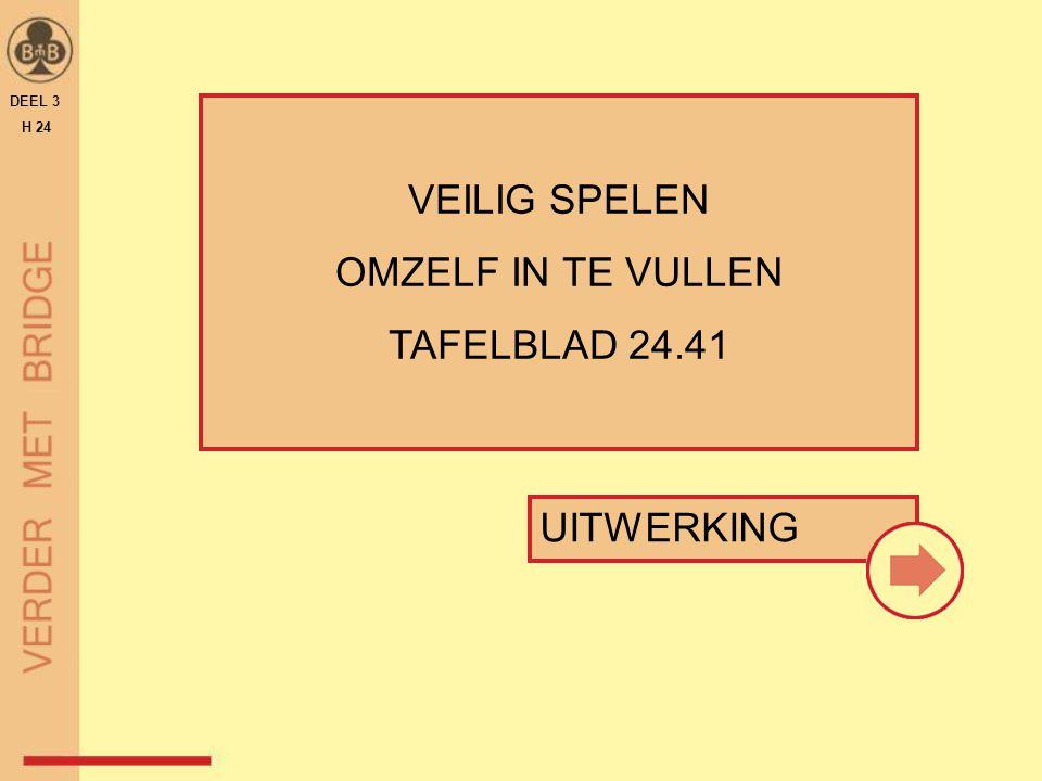 VEILIG SPELEN OMZELF IN TE VULLEN TAFELBLAD 24.41 UITWERKING DEEL 3