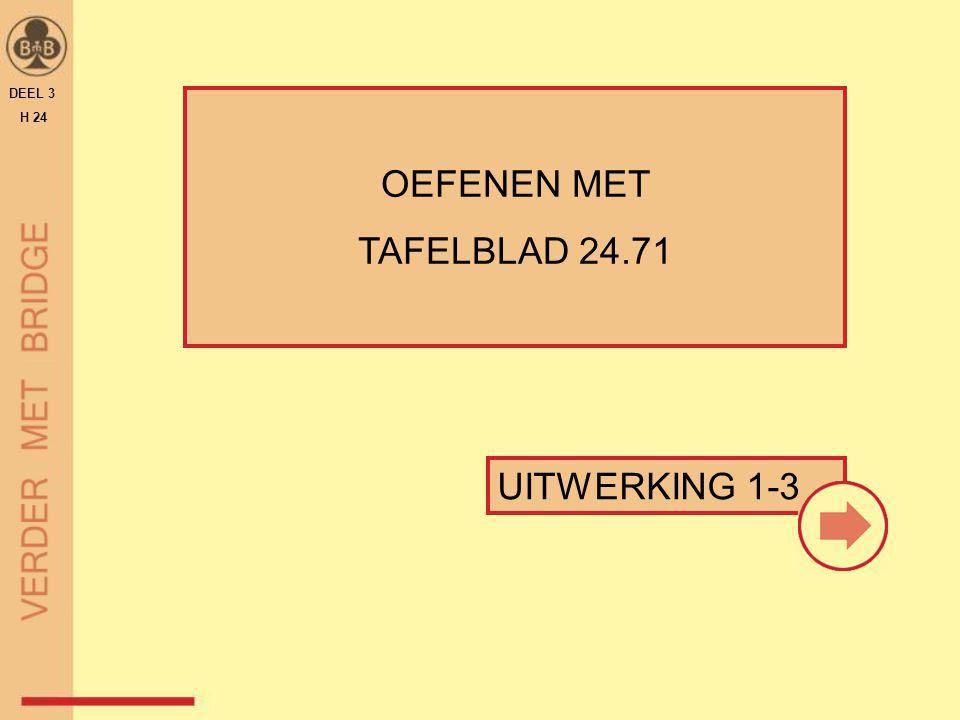 DEEL 3 H 24 OEFENEN MET TAFELBLAD 24.71 UITWERKING 1-3